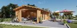 Studio de jardin ANNA (44 mm), 20 m² + 16 m² terrasse visualization 2
