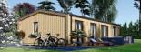 Chalet en bois habitable NICOLE (44 mm + bardage, RT2012), 78 m² visualization 5