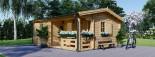 Chalet en bois NANTES (44+44 mm, RT2012), 24 m² + 3.5 m² terrasse visualization 1