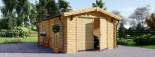 Garage en bois (44 mm), 4x6 m, 24 m² visualization 2