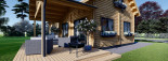 Chalet en bois habitable VERA (44+44 mm, RT2012) 132 m² + 13.5 m² terrasse visualization 9