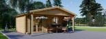 Abri de jardin CAMILA (44 mm), 6x4 m, 24 m² + 11 m² auvent visualization 4