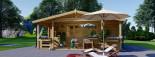 Chalet en bois PARIS (44 mm), 21 m² + 11 m² terrasse visualization 3