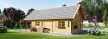 Chalet en bois AURA avec étage (66 mm), 100 m² + 35 m² terrasse visualization 6