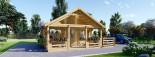 Chalet en bois avec mezzanine ANGERS (44+44 mm, RT2012), 36 m² + 19 m² terrasse visualization 3