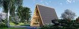 Abri de jardin TIPI, 4.5x7 m, 23 m² + 14 m² mezzanine visualization 6