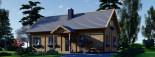 Chalet en bois VERA (66 mm) 132 m² + 13.5 m² terrasse visualization 6