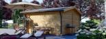 Abri de jardin WISSOUS (44+44 mm, RT2012), 5x5 m, 25 m² visualization 5