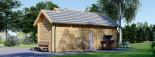 Abri de jardin avec appenti ELLA (44 mm), 7x4 m, 28 m² visualization 4