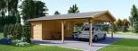 Carport en bois double avec abri, 6x7.5 m, 45 m² visualization 7