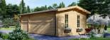 Abri de jardin avec appenti LEA (66 mm), 7x4 m, 28 m² visualization 6