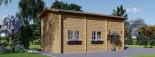 Garage en bois camping car (44 mm), 4x8 m, 32 m² visualization 6
