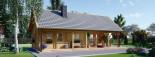 Chalet en bois AURA avec étage (66 mm), 100 m² + 35 m² terrasse visualization 7
