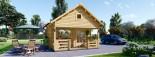 Chalet en bois à étage ALBI (66 mm) 20m²+ 8m² terasse  visualization 2