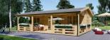 Chalet en bois AMELIA (44 mm), 32 m² + 20 m² terrasse visualization 2