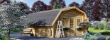 Garage en bois TEXAS (44 mm), 6x6 m, 36 m² visualization 6