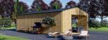 Studio de jardin ANNA Scandinavia (44 mm + bardage), 20 m² + 16 m² terrasse visualization 6