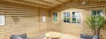 Abri de jardin avec appenti CLARA (44 mm), 7x4 m, 28 m² visualization 8
