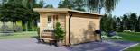 Abri de jardin à toit plat DREUX (44 mm), 4x3 m, 12 m² visualization 3