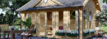 Abri de jardin CLOCKHOUSE (44 mm), 5.5x4 m, 22 m² visualization 7