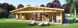 Chalet en bois RIVIERA (66 mm), 100 m² + 20 m² terrasse visualization 3
