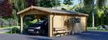 Carport en bois avec abri, 4x7.5 m, 30 m² visualization 6