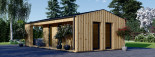 Studio de jardin ANNA Scandinavia (44 mm + bardage), 20 m² + 16 m² terrasse visualization 4