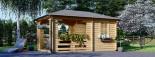 Tonnelle en bois (28 mm), 3x5 m, 15 m² visualization 1