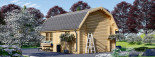 Garage en bois MISSISSIPPI (44 mm), 5x6 m, 30 m² visualization 3