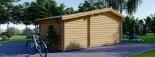 Abri de jardin ISLA (66 mm), 18 m² + 7 m² terrasse visualization 5