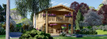 Chalet en bois habitable TOULOUSE (44+44 mm, RT2012), 100 m² + 20 m² terrasse visualization 3