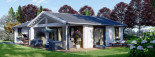 Chalet en bois habitable ADELE (44+44 mm, RT2012), 68 m² visualization 2