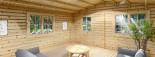 Abri de jardin DREUX (44+44 mm, RT2012), 5x5 m, 25 m² visualization 7