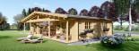 Chalet en bois RIVIERA (66 mm), 100 m² + 20 m² terrasse visualization 4