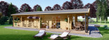 Chalet en bois TOSCANA (44 mm), 53 m² + 29 m² terrasse visualization 10