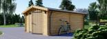 Garage en bois (44 mm), 4x6 m, 24 m² visualization 5