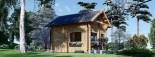 Chalet en bois habitable AVIGNON (44+44 mm, RT2012), 19.9 m² + 16 m² étage visualization 4