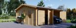 Garage en bois double ALTERNATIVE (44 mm), 6x6 m, 36 m² visualization 1