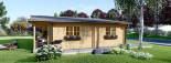 Chalet en bois habitable RIVIERA (44+44 mm, RT2012), 100 m² + 20 m² terrasse visualization 5
