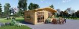 Abri de jardin WISSOUS (34 mm), 5x5 m, 25 m² visualization 5