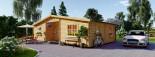 Chalet en bois FILL (44 mm), 60 m² visualization 2