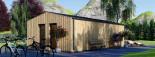 Studio de jardin ANNA Scandinavia (44 mm + bardage), 20 m² + 16 m² terrasse visualization 5