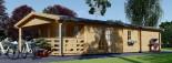 Chalet en bois DONNA PLUS (44 mm), 63 m² + 11.5 m² terrasse visualization 7