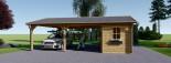 Carport en bois double avec abri, 6x7.5 m, 45 m² visualization 3
