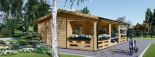 Chalet en bois AMELIA (66 mm), 32 m² + 20 m² terrasse visualization 5