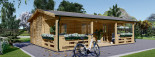 Chalet en bois AMELIA (66 mm), 32 m² + 20 m² terrasse visualization 4