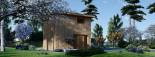 Studio de jardin LISA (44 mm + bardage), 21.84 m² visualization 3