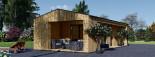Studio de jardin ANNA Scandinavia (44 mm + bardage), 20 m² + 16 m² terrasse visualization 8