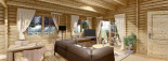 Chalet en bois habitable LINDA (44+44 mm, RT2012), 78 m² + 38 m² terrasse visualization 10