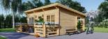 Chalet en bois à toit plat ALTURA (44+44 mm, RT2012), 31m² +  8 m² terrasse visualization 4